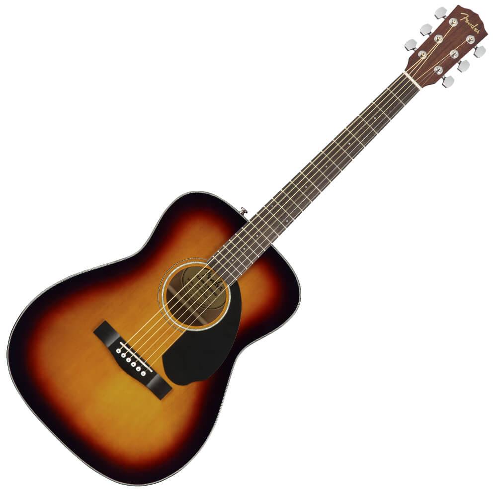 Fender CC-60S Concert Acoustic Guitar - Walnut - 3-Colour Sunburst