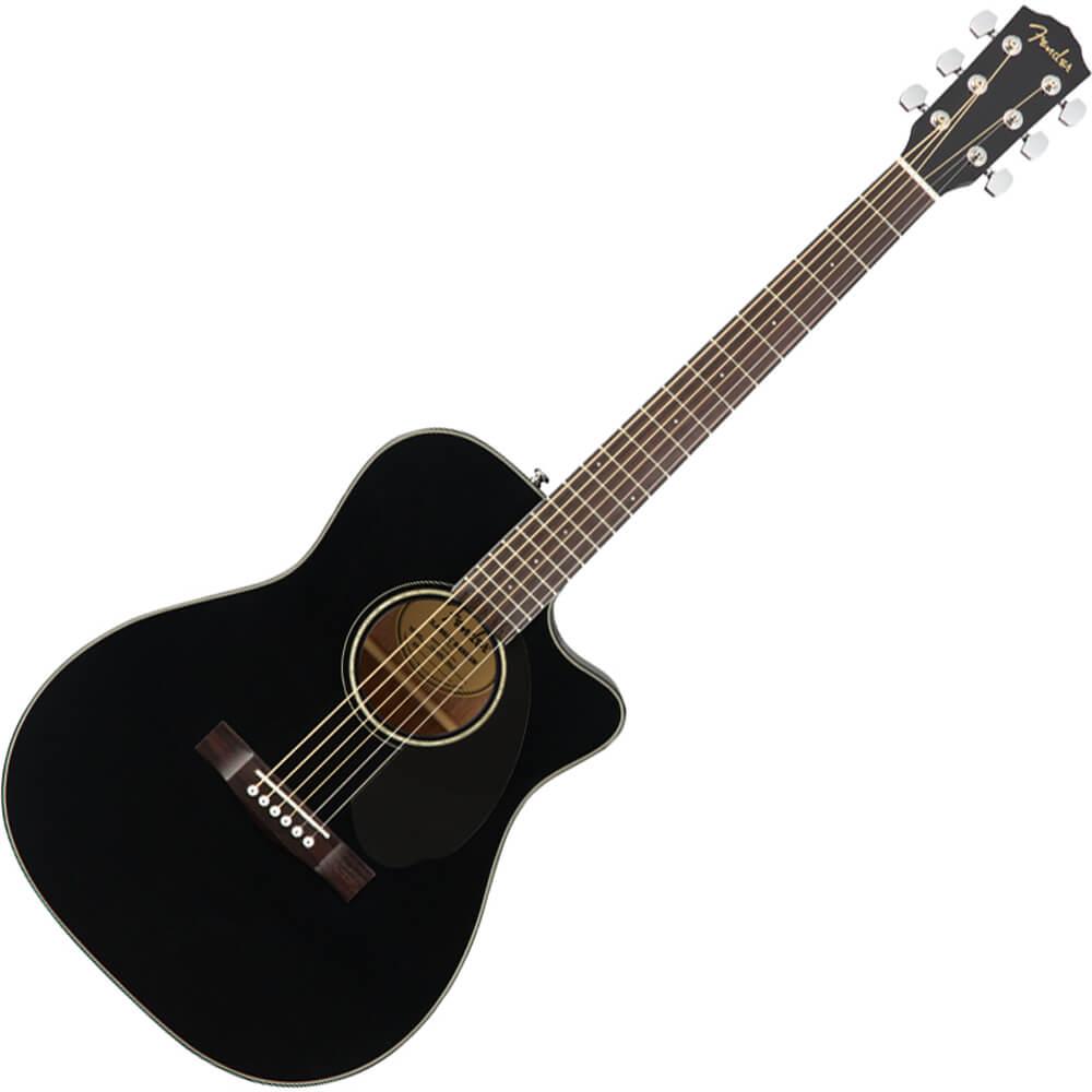 Fender CC-60SCE Concert Acoustic Guitar - Walnut - Black