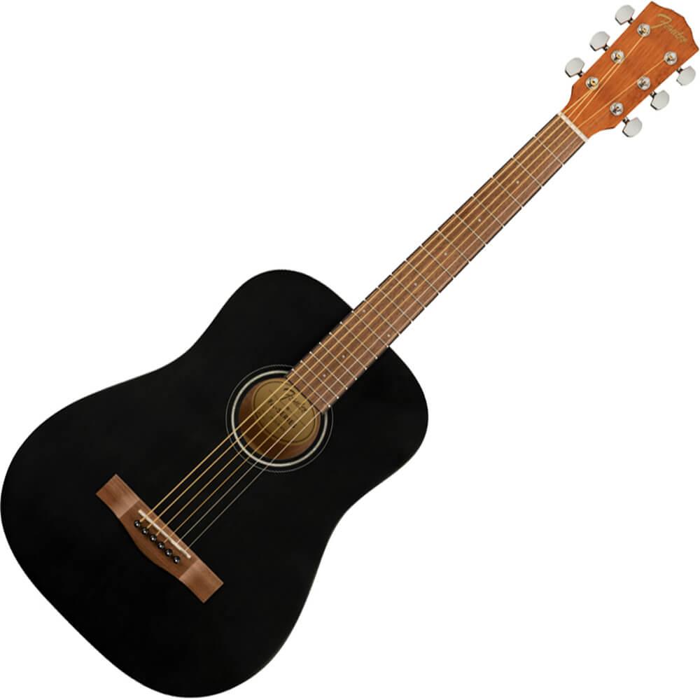 Fender FA-15 Steel String 3/4 Scale Acoustic Guitar - WN - Black w/Gig Bag