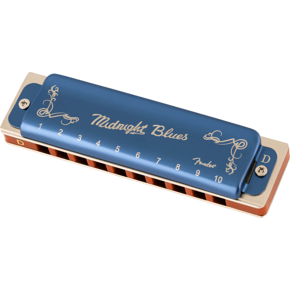 Fender Midnight Blues Harmonica, Key of D