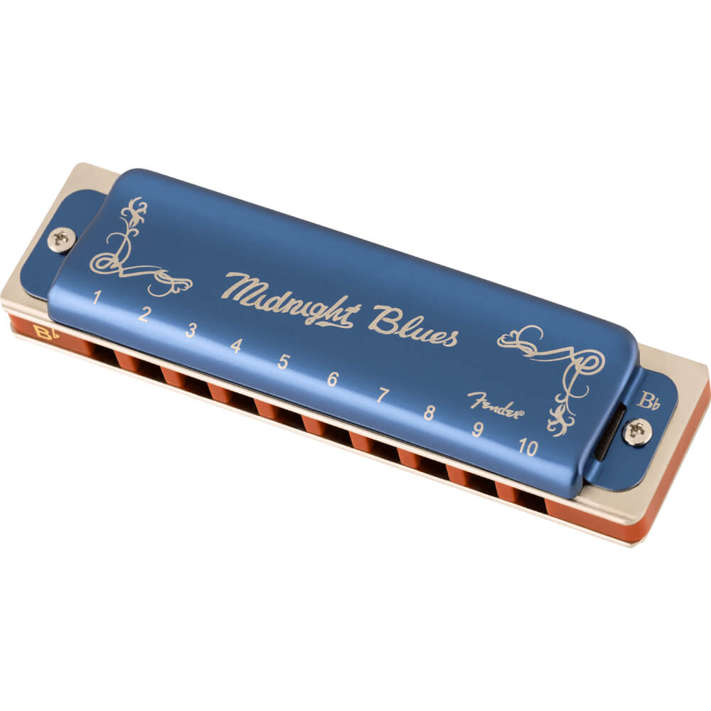 Fender Midnight Blues Harmonica, Key of B Flat