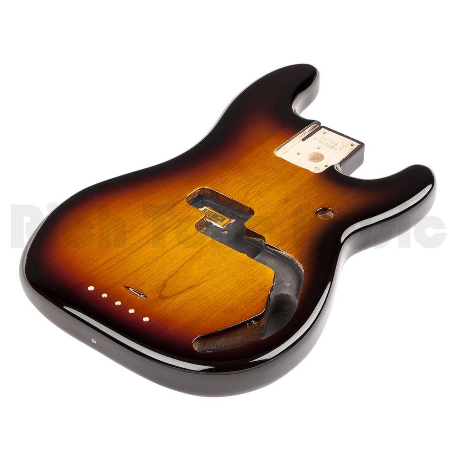 Fender P Bass Body Alder Vintage Bridge Mount Brown Sunburst