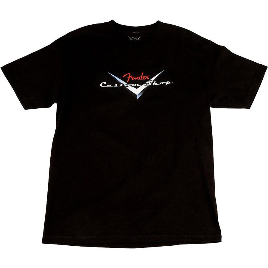 Fender custom shop original logo t shirt black m rich for Custom t shirt shop online