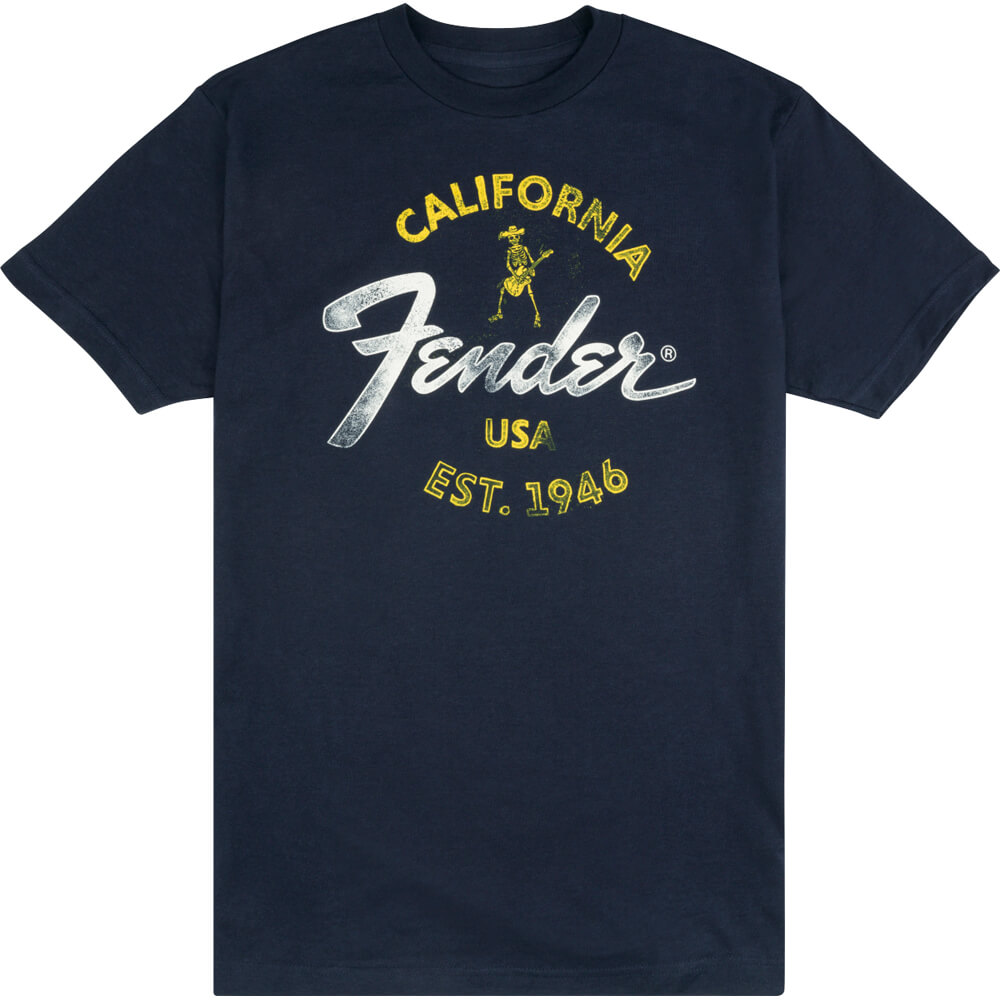 Fender Baja Blue T-Shirt, Blue - XL
