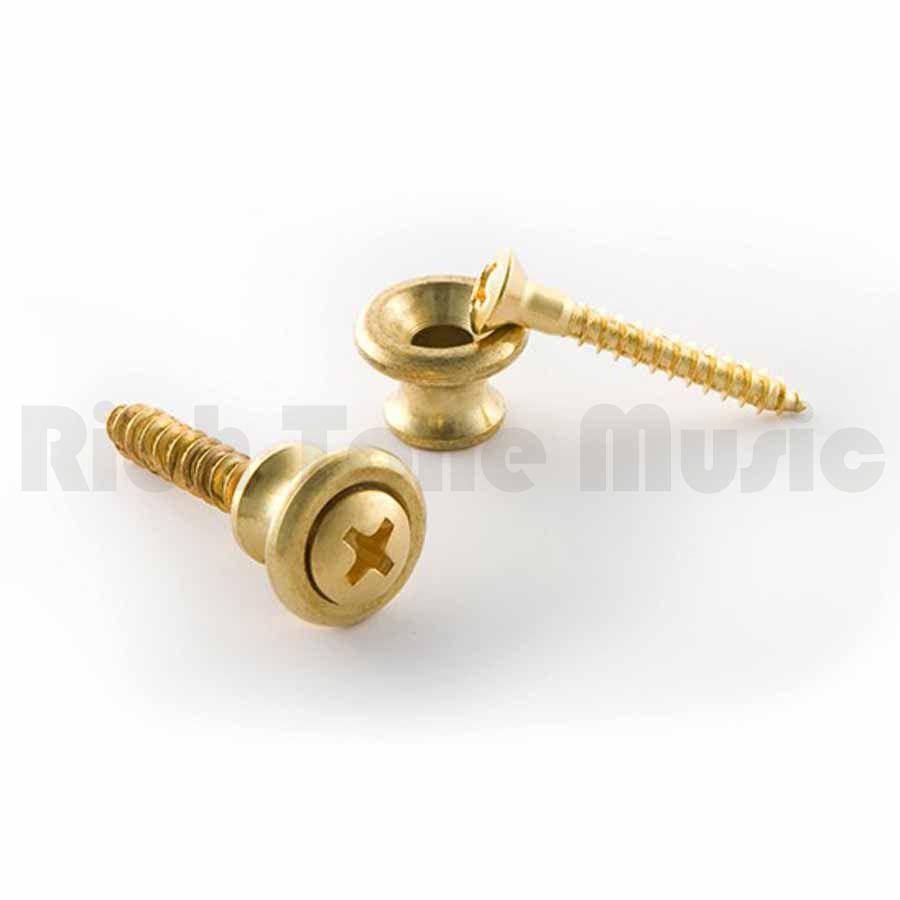 Genuine Guitar Parts GIBSON Les Paul Gold Brass Strap Button Set
