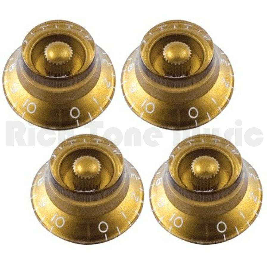 gibson top hat knobs gold 4 pack rich tone music. Black Bedroom Furniture Sets. Home Design Ideas