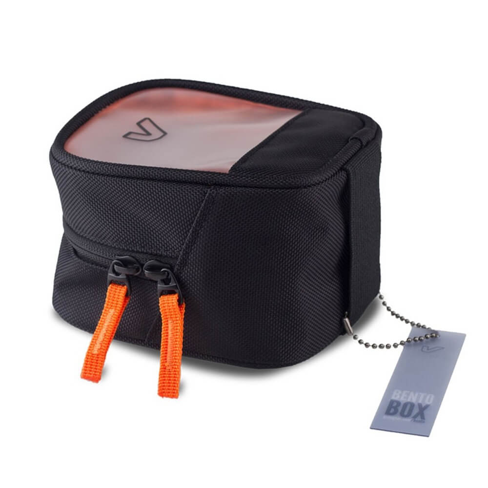 GruvGear HT02-BLK Bento Box Classic, Half Length/Tall - Black/Orange