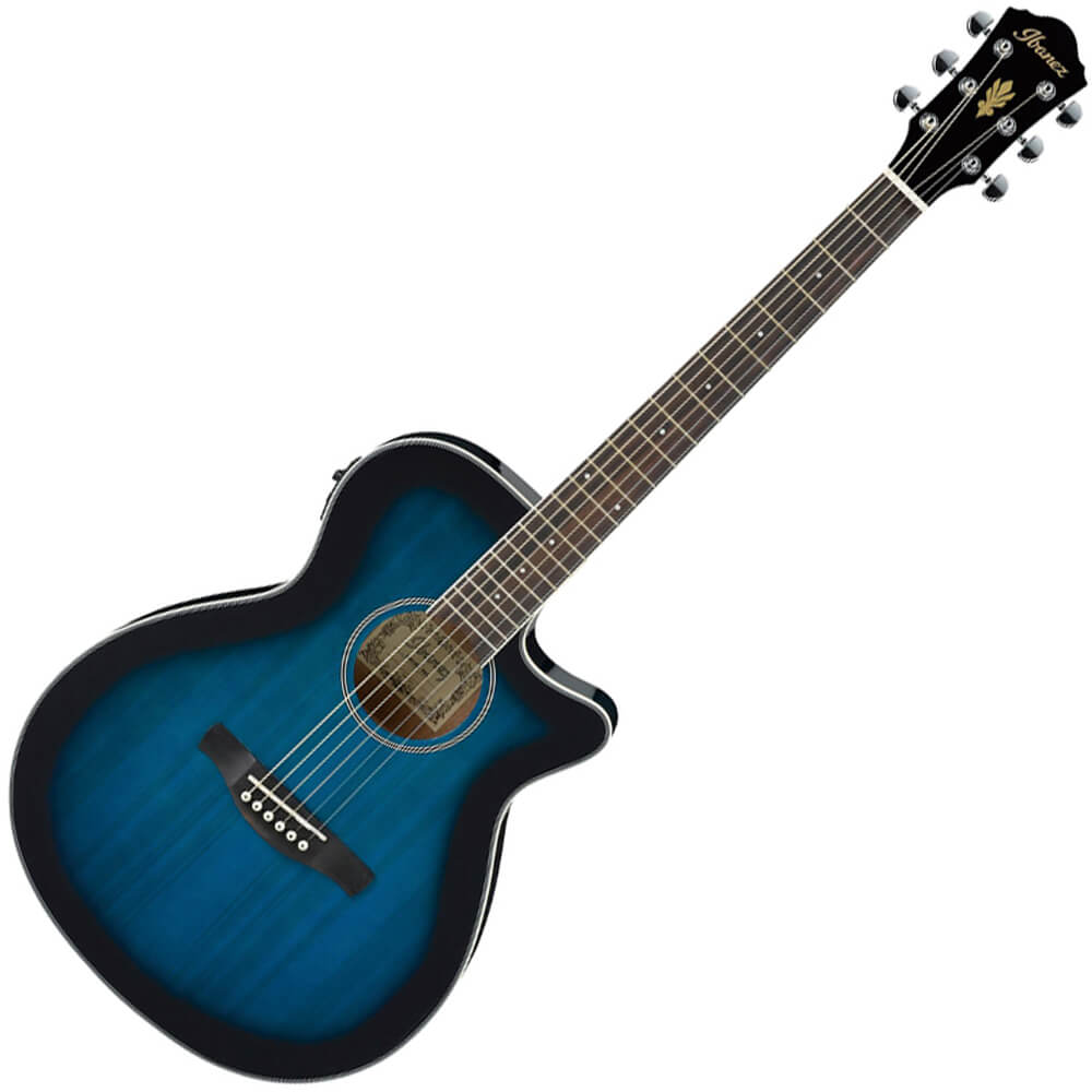 Ibanez AEG Series AEG8E Electro-Acoustic - Transparent Blue Sunburst