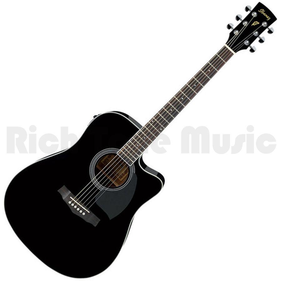Ibanez PF15ECE-BK Acoustic Guitar - Black