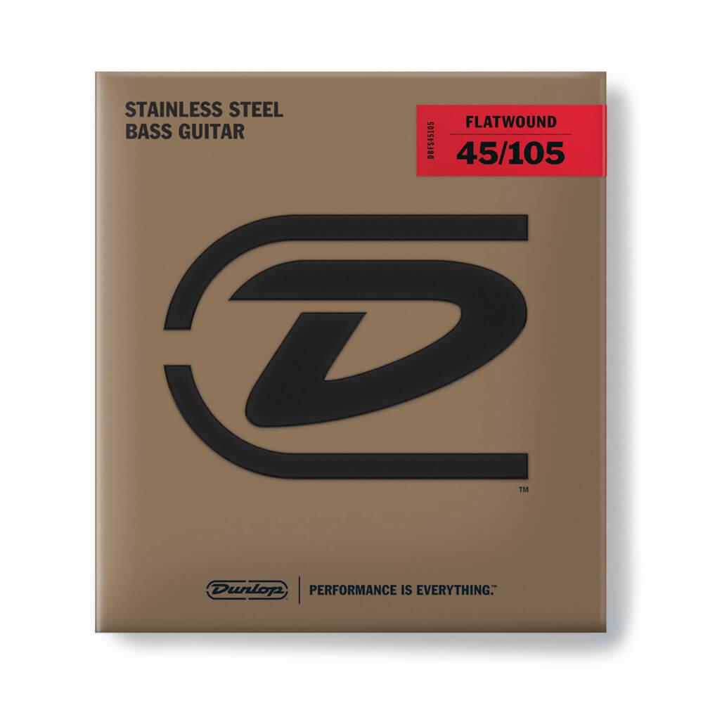 Jim Dunlop DBFS45105 Flatwound Bass Strings, Long Scale, Medium, 45/105