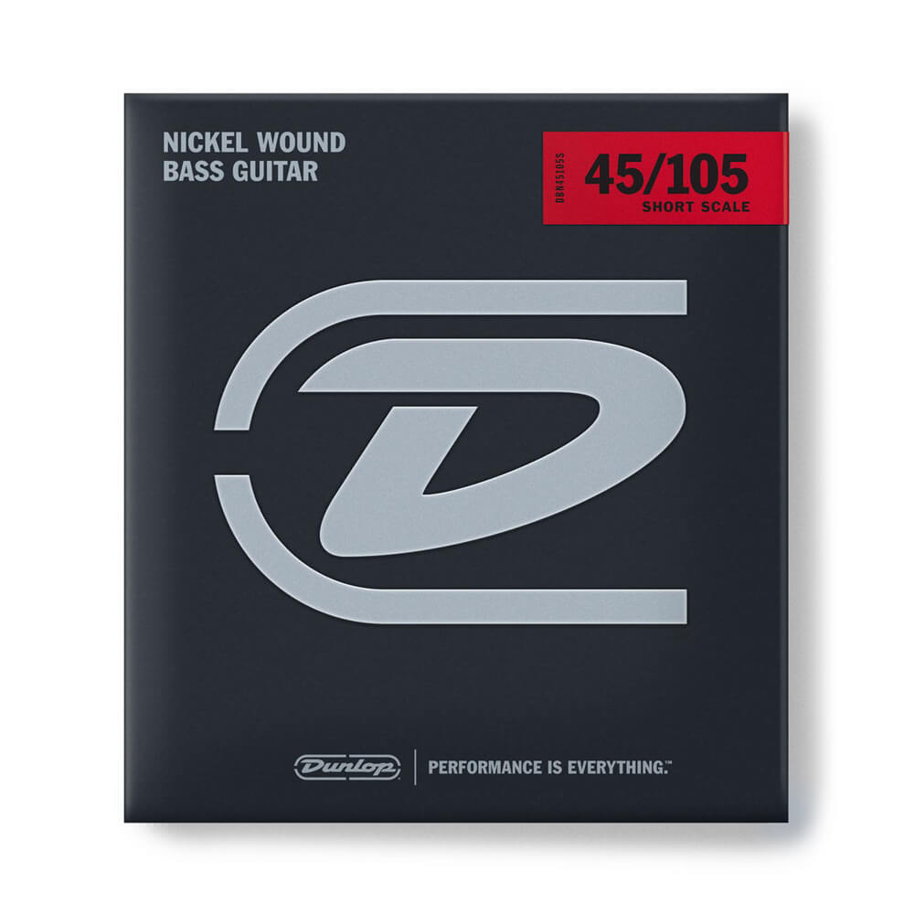 Jim Dunlop DBN45105S Bass Strings, Nickel, Short Scale, Medium, 45/105