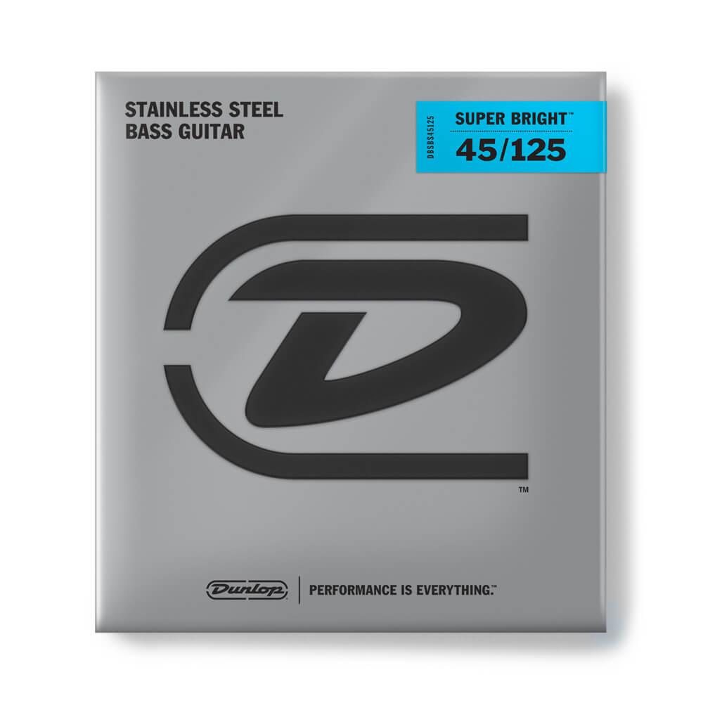 Jim Dunlop DBSBS45125 Super Bright Bass Strings, Steel, 5-String, Med, 45/125