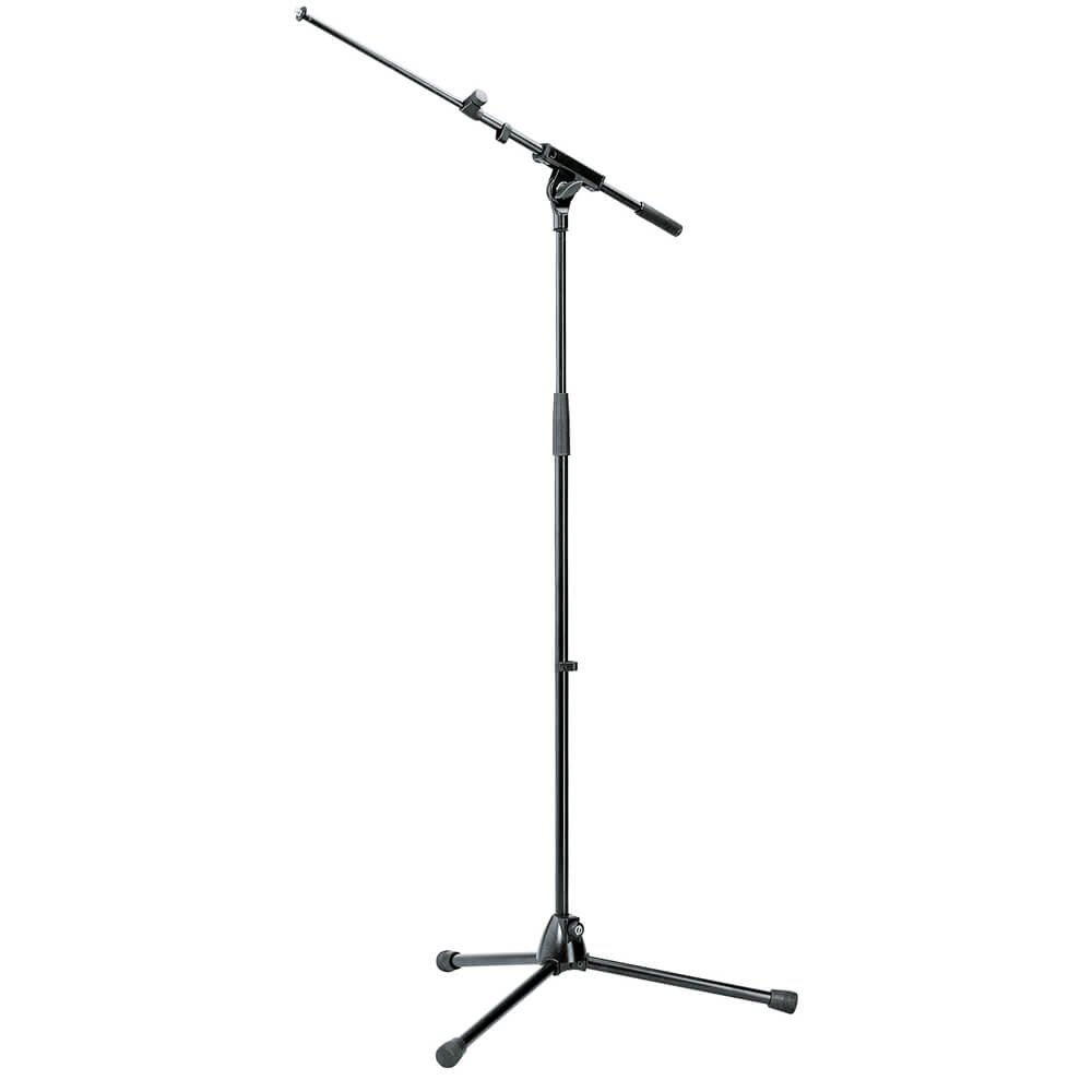 Konig & Meyer Microphone Stand with Extendable Boom Arm - Gray