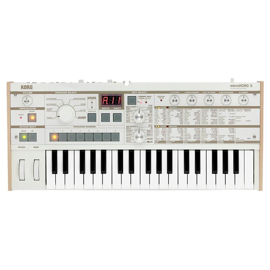 Korg MicroKORG Synthesizer / Vocoder - White with Speakers