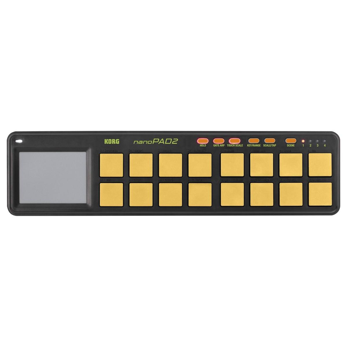 Korg nanoPAD2 Slim-Line USB Pad Controller - Orange/Green Limited Edition