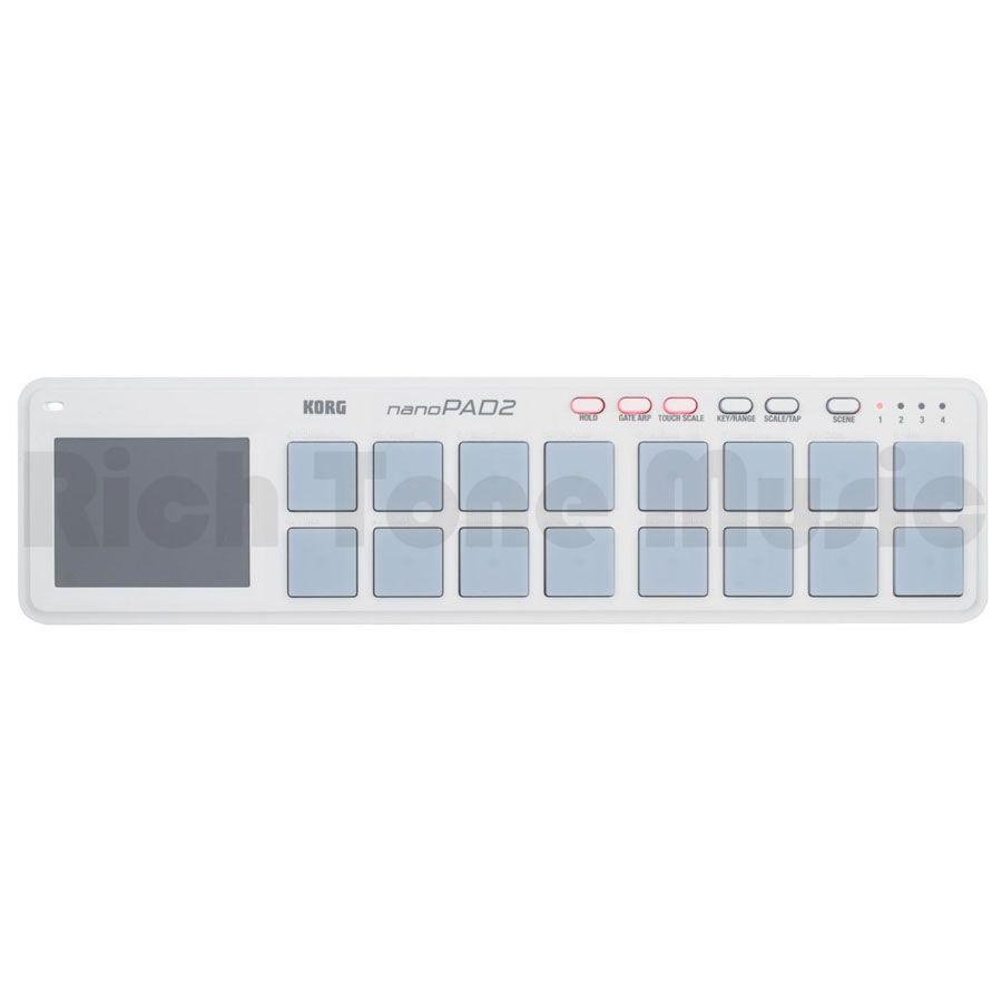 Korg nanoPAD2 Slim-Line USB Pad Controller - White