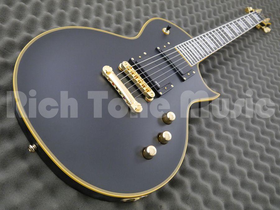 esp ltd ec 1000 electric guitar vintage black rich. Black Bedroom Furniture Sets. Home Design Ideas