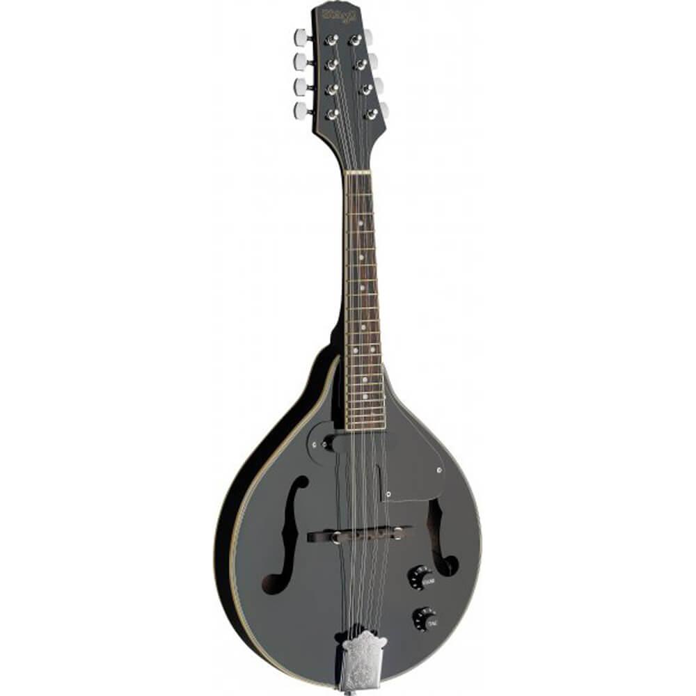 Stagg M50 E BLK Acoustic-Electric Bluegrass Mandolin - Black