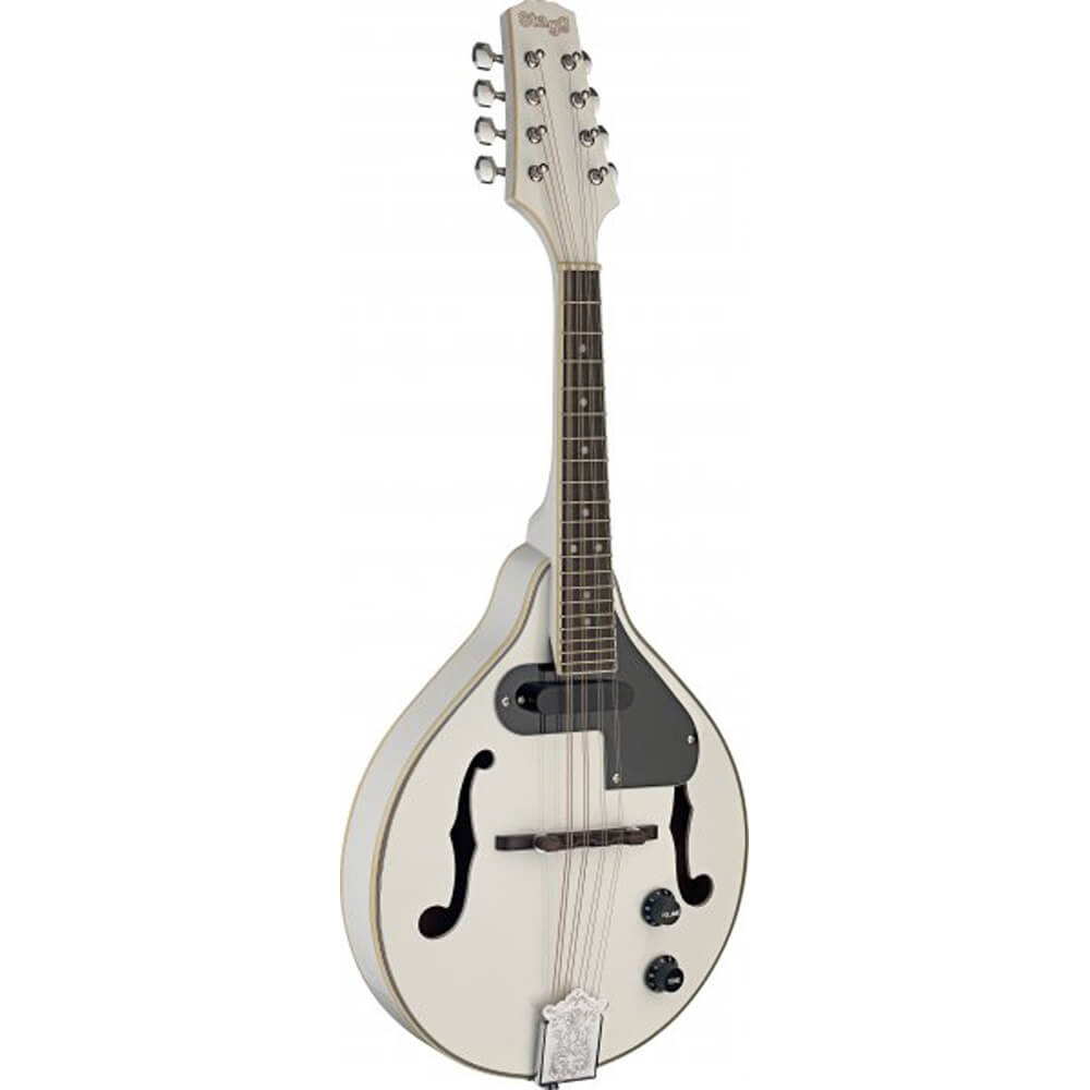Stagg M50 E WH Acoustic-Electric Bluegrass Mandolin - White