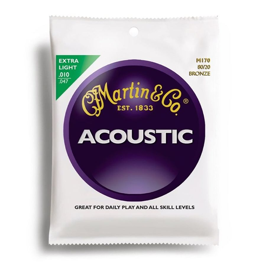 Martin M170 Acoustic Guitar Strings 80/20 Bronze Extra Light 10-47