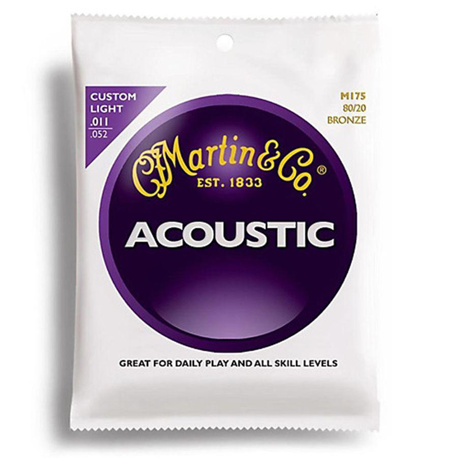 Martin M175 Acoustic Guitar Strings 80/20 Bronze Custom Light 11-52
