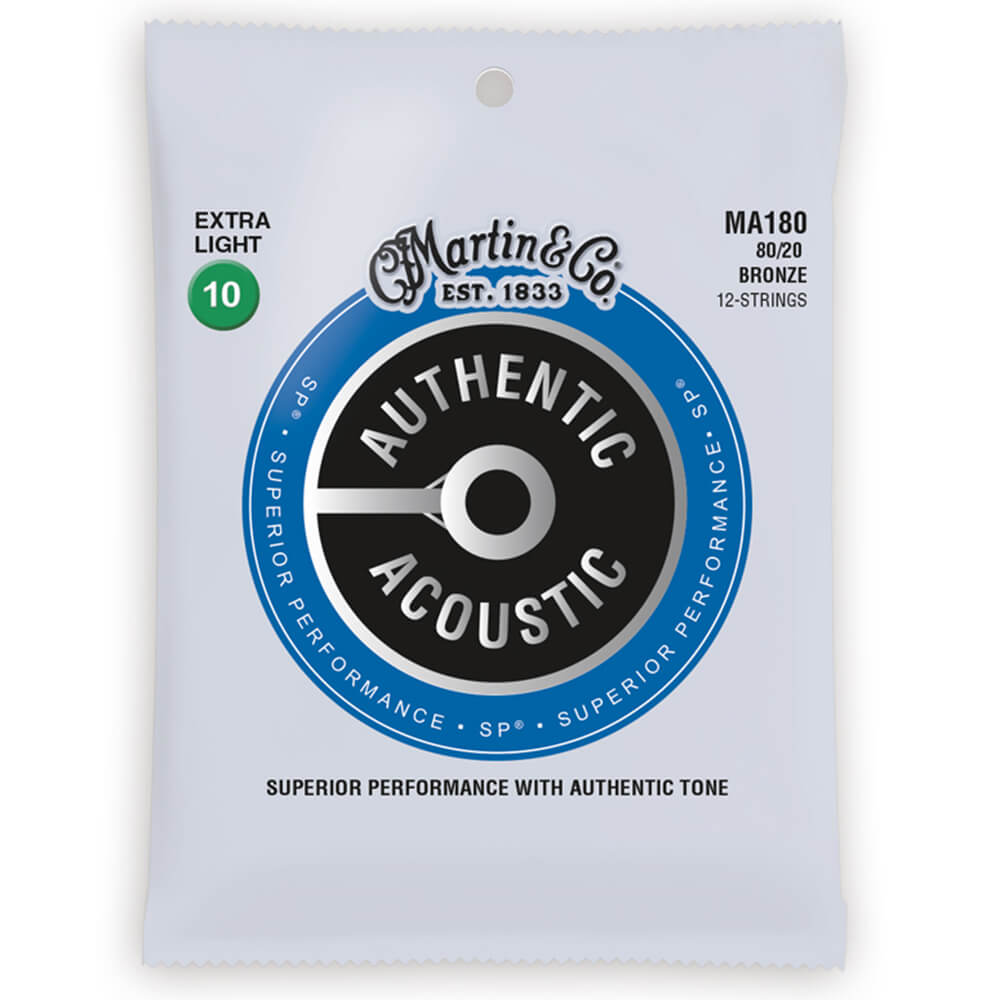 Martin MA180 Acoustic SP, 80/20 Bronze, 12 String, X-Light, 10-47