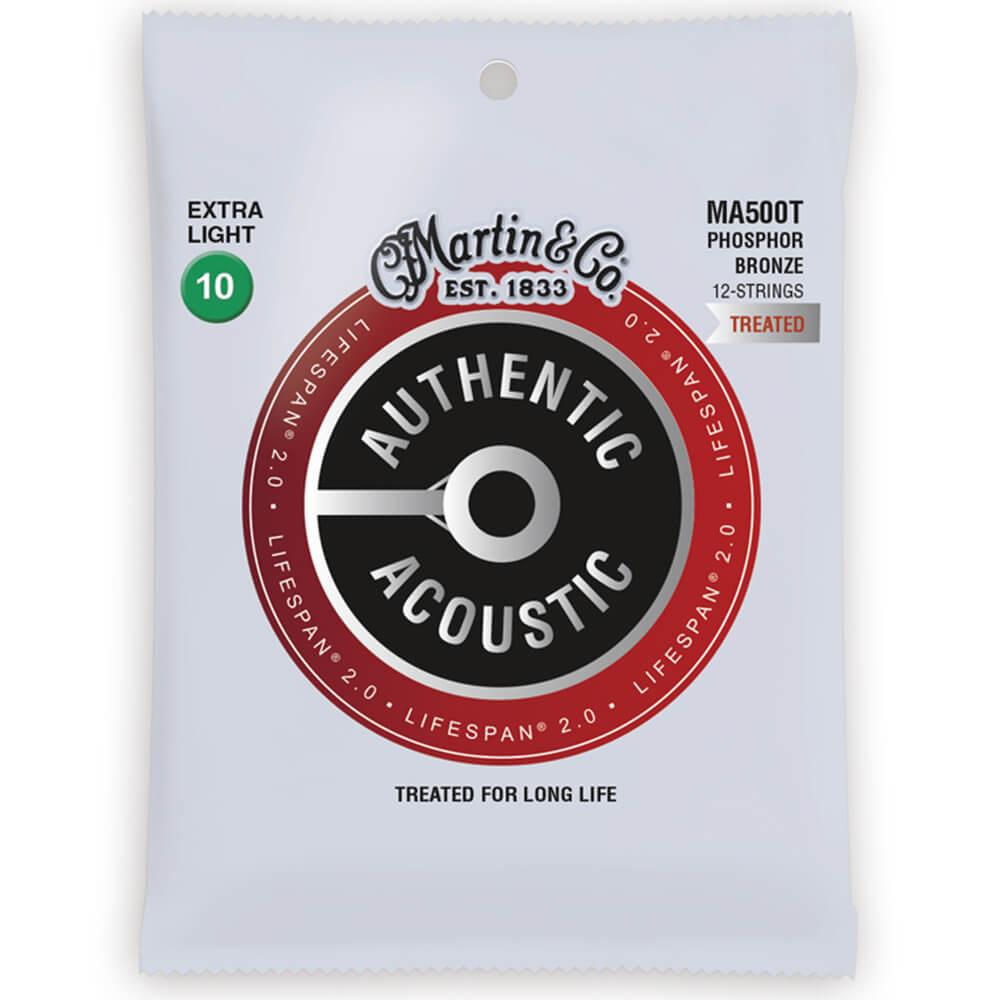 Martin MA500T Acoustic LifeSpan 2.0, Phosphor Bronze, 12 String, X-Light, 10-47