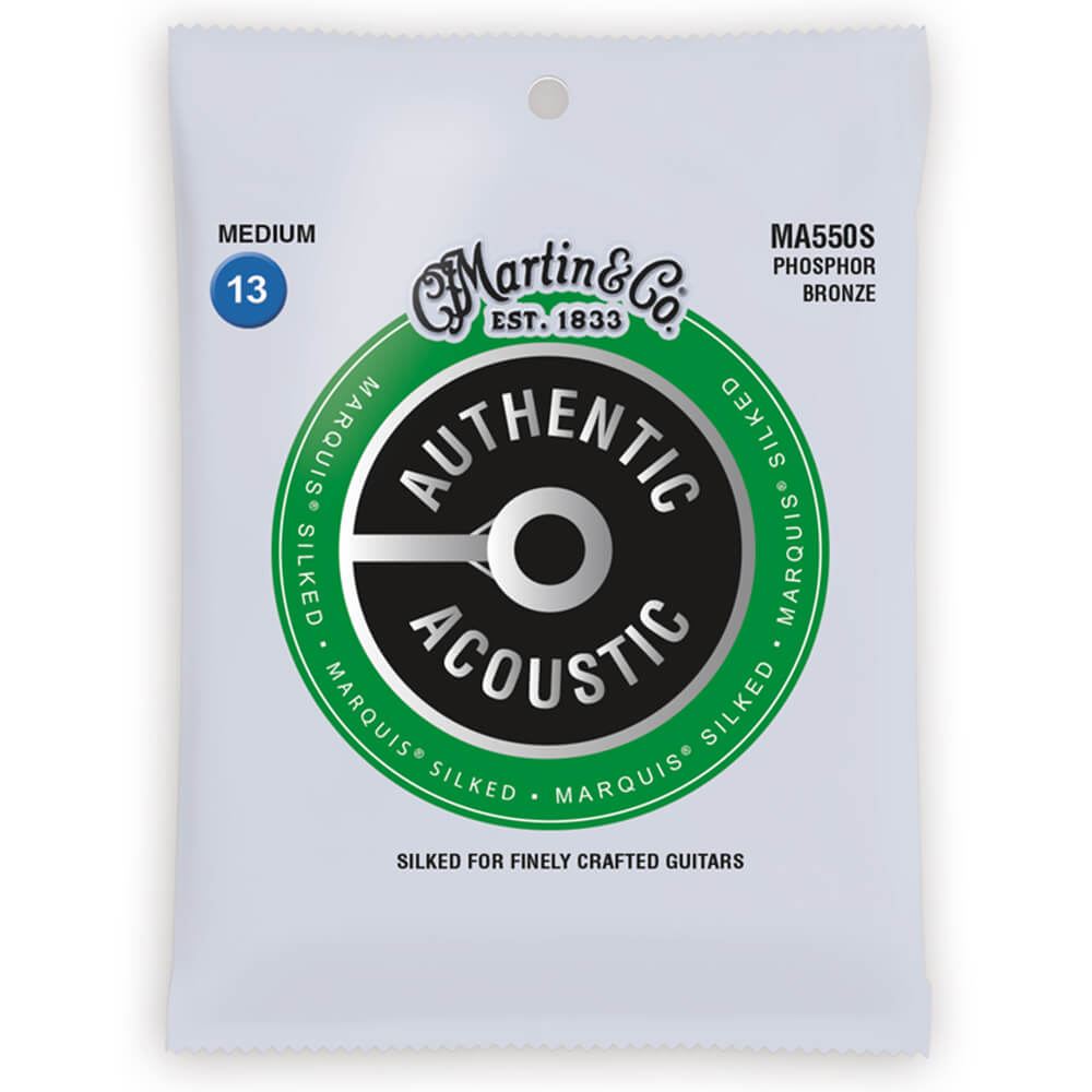 Martin MA550S Acoustic Marquis Silked, Phosphor Bronze, Medium, 13-56