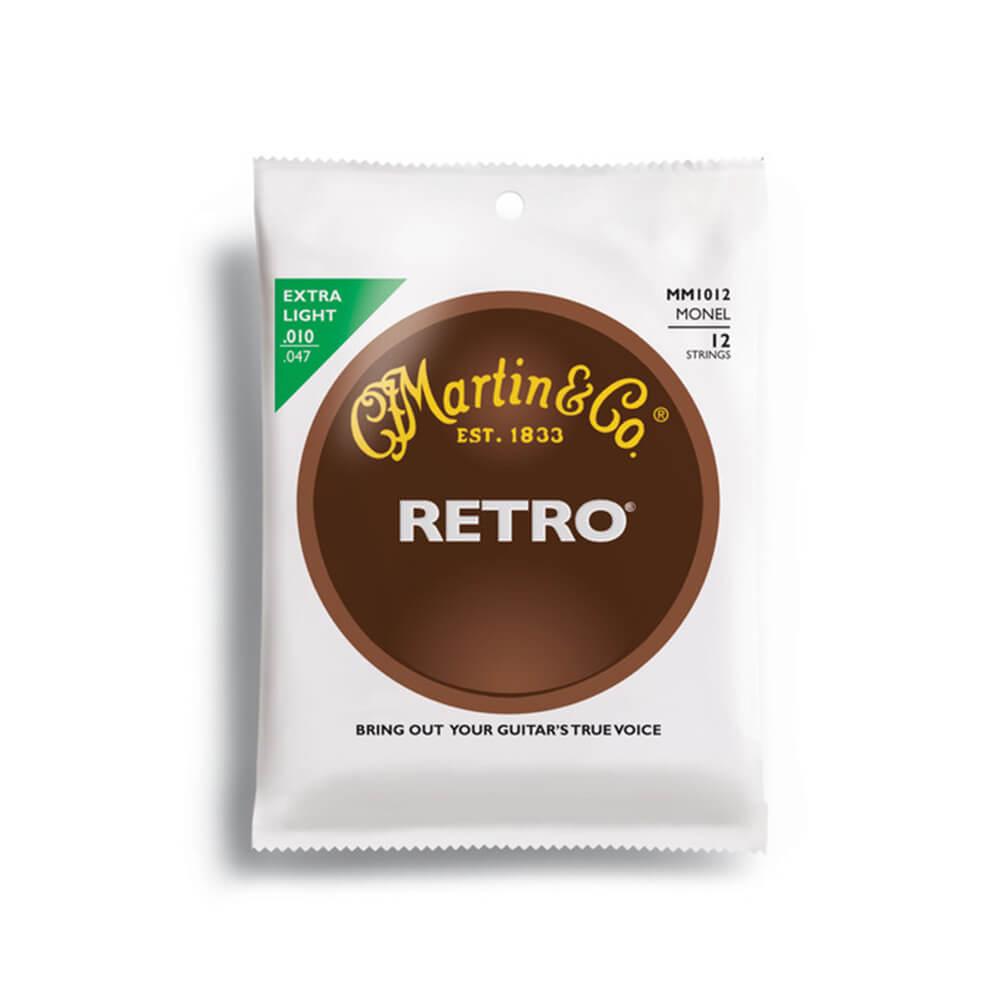 Martin MM1012 Acoustic Retro Monel, 12 String, Extra Light, 10-47