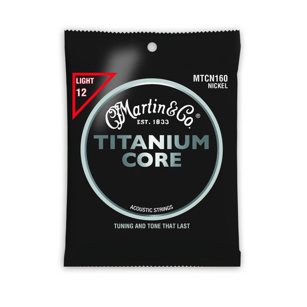 Martin MTCN160 Acoustic Titanium Core, Light Tension, 12-55