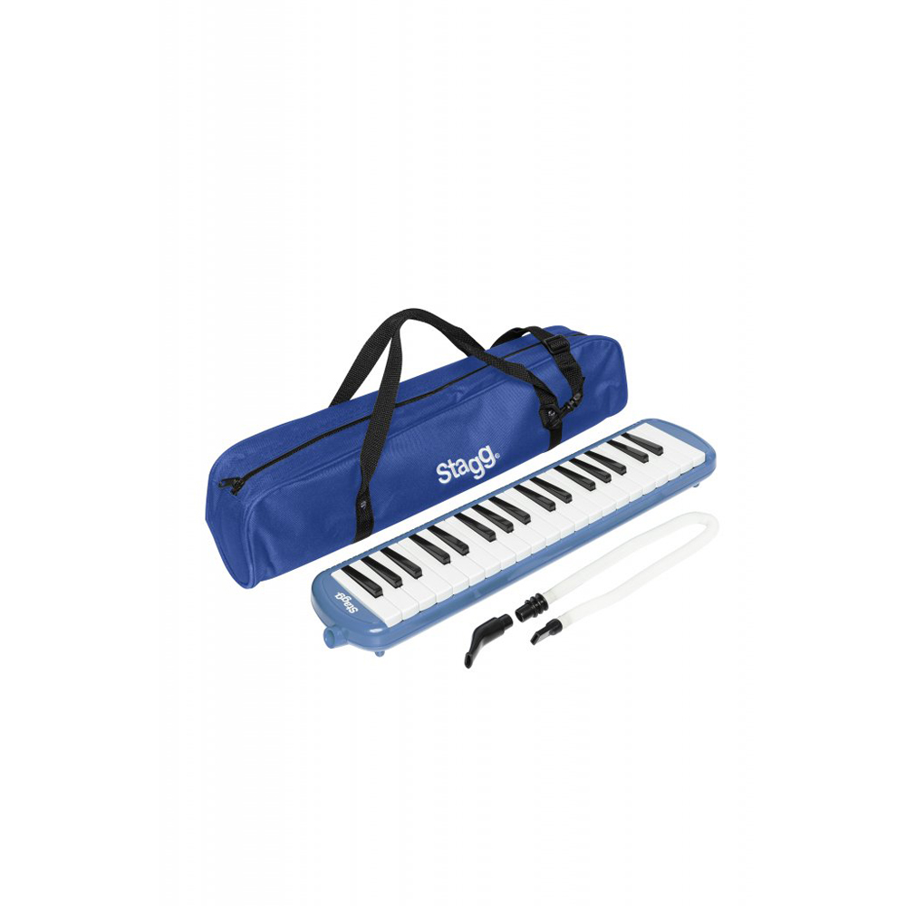 Stagg MELOSTA37 BL 37-Key Melodica - Blue with Bag