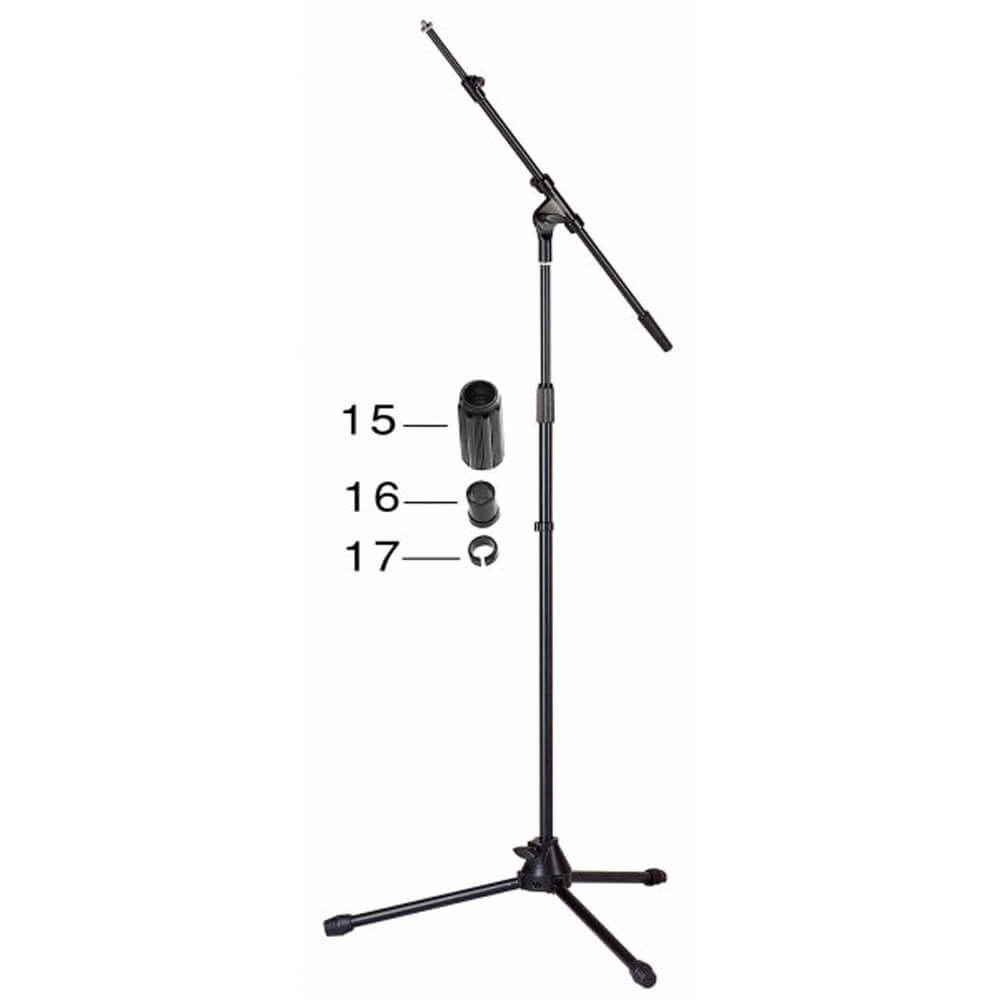 Stagg MIS-2024BK Telescopic Microphone Boom Stand