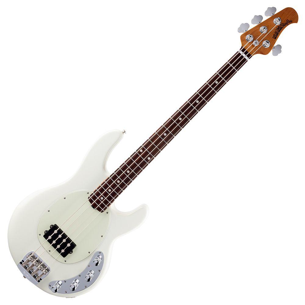 MusicMan Stingray 4 Bass - 3 Band EQ - Rosewood Neck - White
