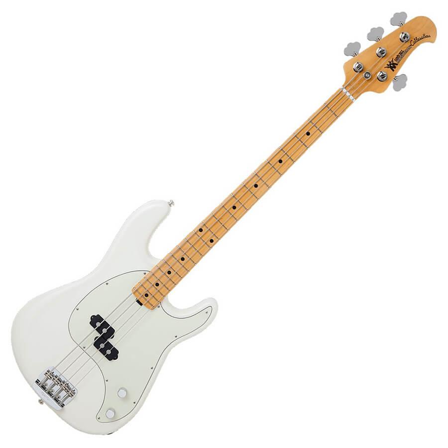 Music Man Cutlass 4-String Bass Guitar - Maple Neck - Ivory White