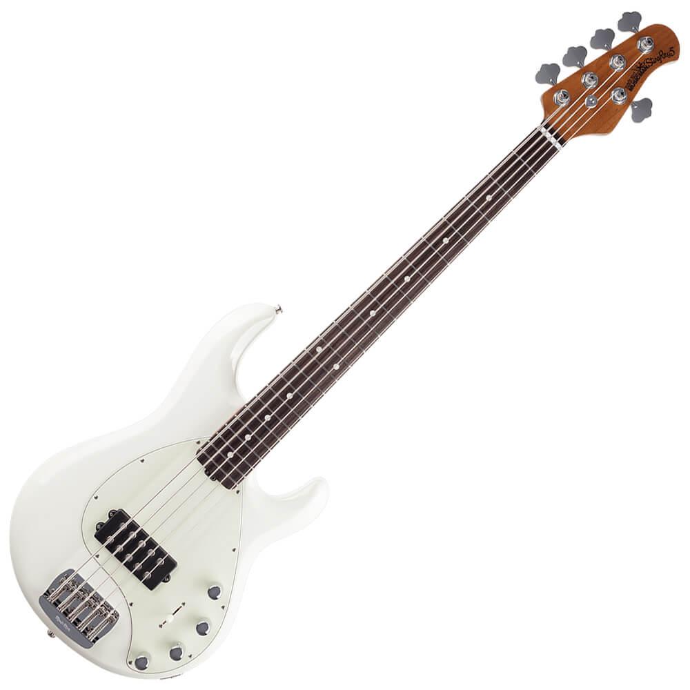 Music Man StingRay5 Roasted Maple, RW - Ivory White
