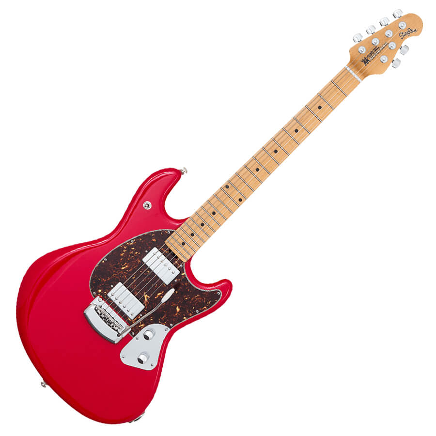 music man stingray guitar chili red rich tone music. Black Bedroom Furniture Sets. Home Design Ideas