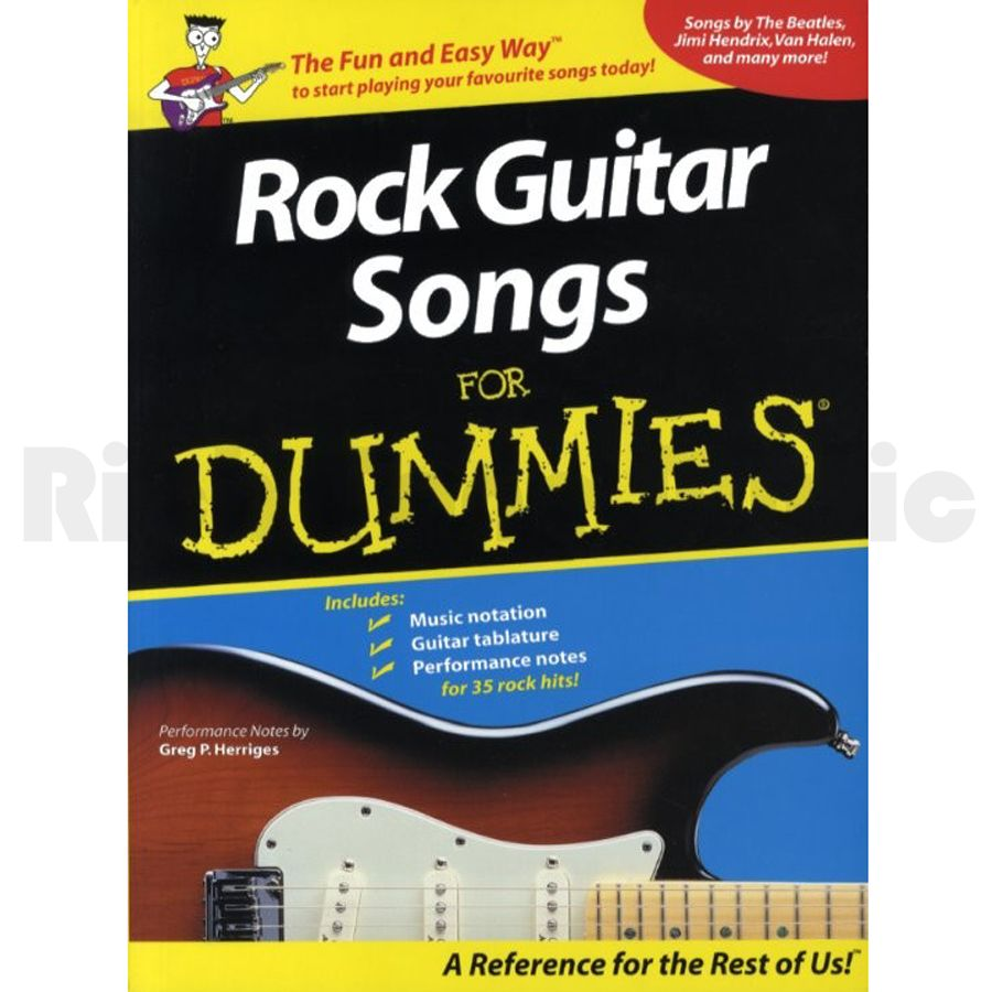 rock guitar songs for dummies rich tone music. Black Bedroom Furniture Sets. Home Design Ideas