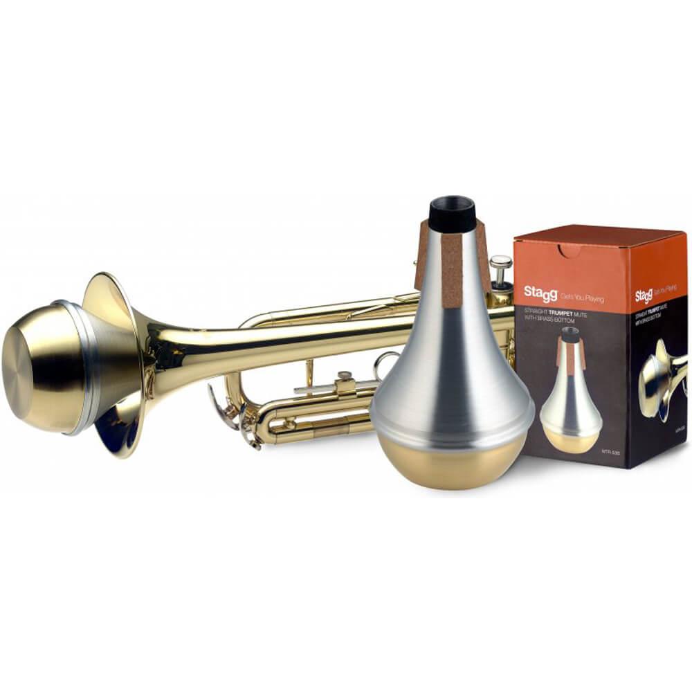 Stagg MTR-S3B Straight Trumpet Mute - Brass Bottom