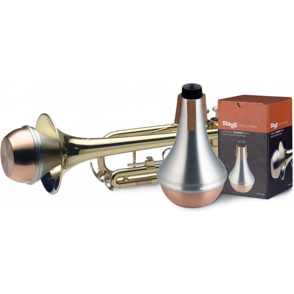Stagg MTR-S3C Straight Trumpet Mute - Copper Bottom