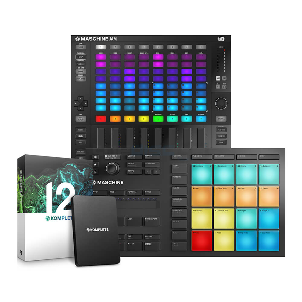 Native Instruments Maschine Mikro Mk3 & Maschine Jam & Komplete 12 Bundle