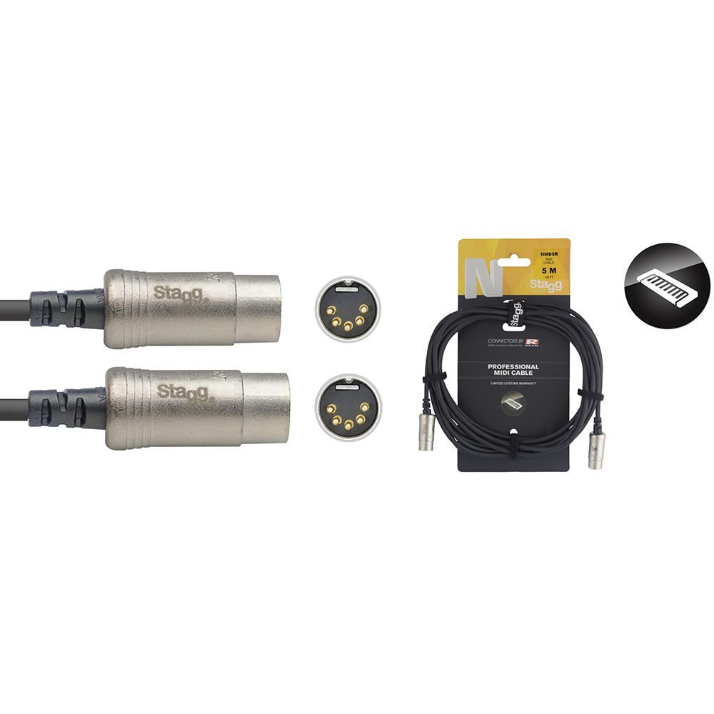 Stagg N Series MIDI Cable - 5m/16ft