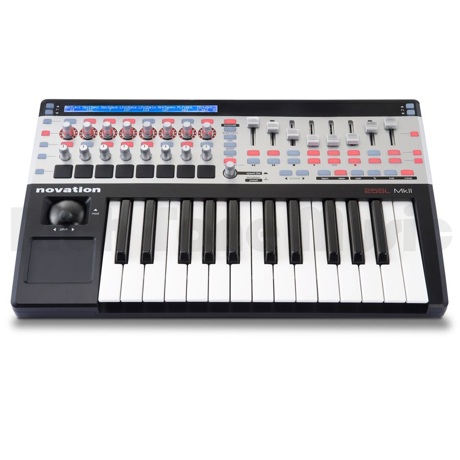 novation 25 sl mkii midi controller rich tone music. Black Bedroom Furniture Sets. Home Design Ideas