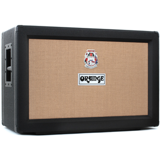 Orange PPC212 2x12 120 Watt Speaker Cabinet - Closed Back - Black