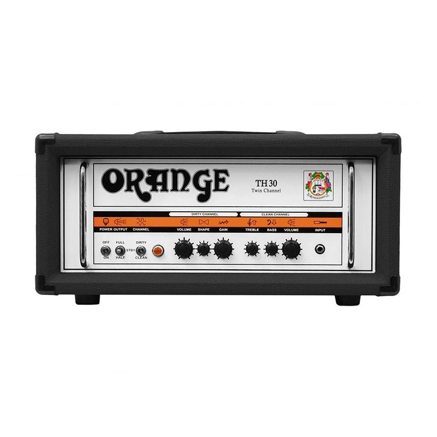 orange th30h thunder 30 watt guitar amplifier head black rich tone music. Black Bedroom Furniture Sets. Home Design Ideas