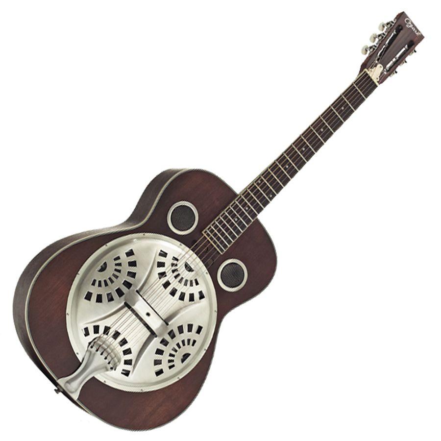 Ozark 3515DD Deluxe Wooden Resonator Guitar - Distressed