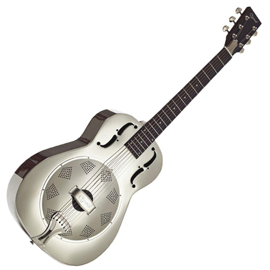 Ozark 3515N Metal Resonator Guitar - Nickel Plate