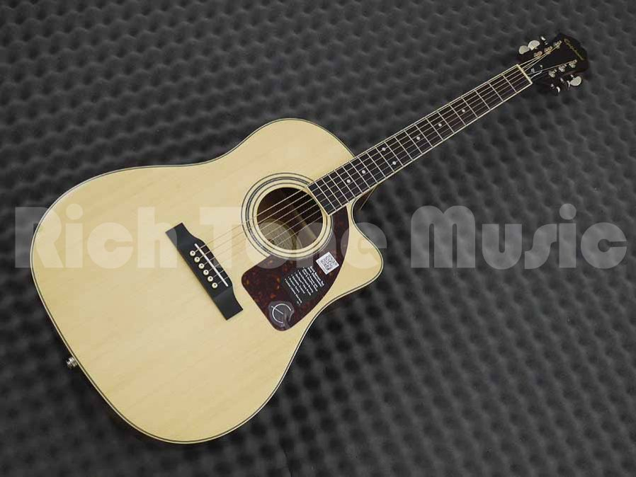 Epiphone AJ-220SCE Solid Top - Electro Acoustic Guitar - Natural