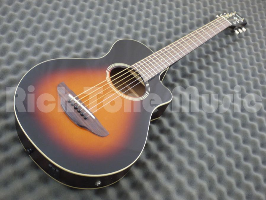 Yamaha apx t2 travel guitar old violin sunburst rich for Yamaha apx series