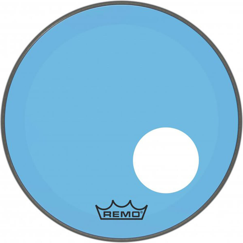 Remo P3-1318-CT-BUOH Powerstroke P3 Farbetone Blau Drum Head, 18