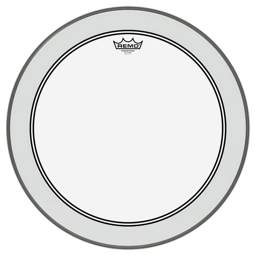 """Remo P3-1320-C2 Powerstroke P3 Clear Bass Drum Head, 20"""""""
